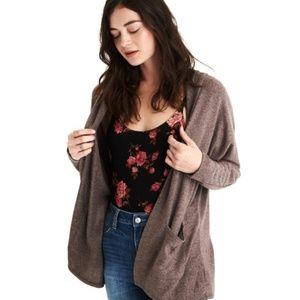 NWT AEO Soft & Sexy Plush Hooded Cardigan size L